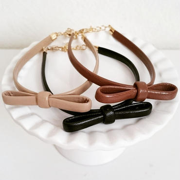 【ribbon leather】ブレスレット