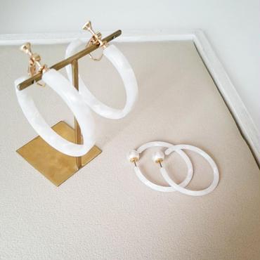 【White tortoiseshell style】ピアス&イヤリング