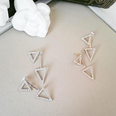 【Shining triangle】2wayピアス