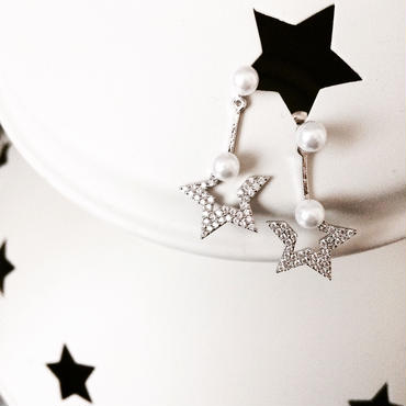 【Half stars】2wayピアス