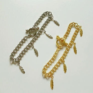 『feather chain』ブレスレット