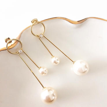 【Seesaw Pearl】ピアス