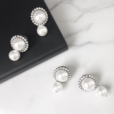 【Double pearl】ピアス&イヤリング
