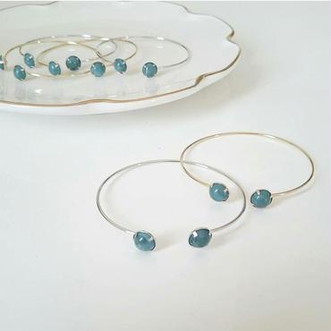 【delicate turquoise】バングル