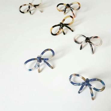 【ribbon tortoiseshell style】ピアス