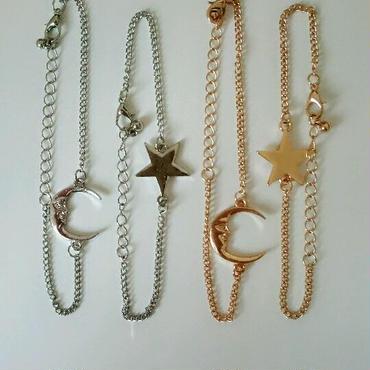『star & moon』チェーンブレスレット