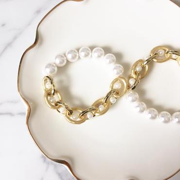 【Half Pearl】ブレスレット