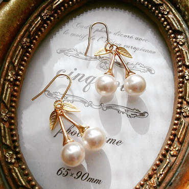 【pearl of cherries】ピアス&イヤリング