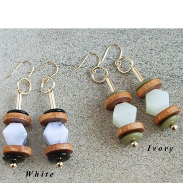 【Wood & Marble】ピアス&イヤリング