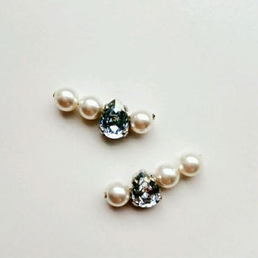『continuous  pearl』ピアス