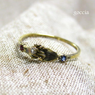 K18ゴールド。婚約リング(フェデリング)、約束のリング。