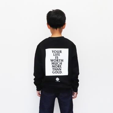 YOUR  LIFE  P/O  ユア  ライフ  プルオーバースウェット  BLACK