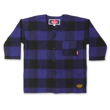 "BUFFALO  CHECK  ""DABO""  SHIRT  バッファローチェック  ダボシャツ  BLUE"