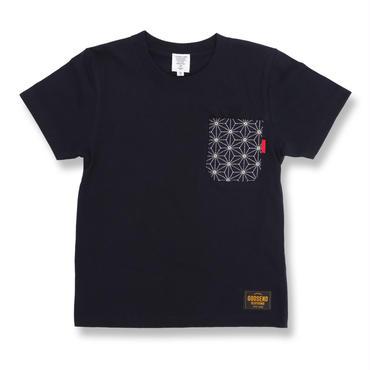 SASHIKO  HEMP  TEE  ADULT 刺し子  麻の葉  Tシャツ 大人サイズ