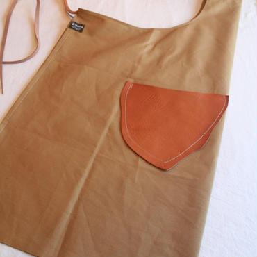 オリジナル革ポケットエプロン  Teha'amana