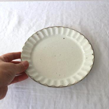 粉引縞皿17cm / 加藤仁志