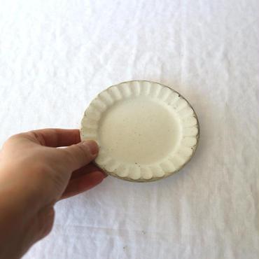 粉引縞皿11cm / 加藤仁志
