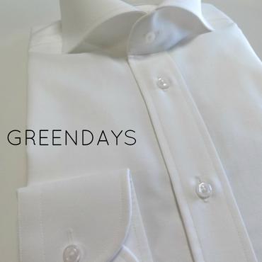 【オーダーシャツ】〔JAPAN縫製〕オックスフォード・カッタウェイカラー・ホワイトメンズシャツ(上質綿100%)
