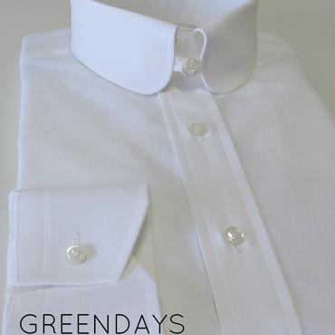 【受注生産】〔JAPAN縫製〕ラウンドタブカラーシャツ(上質コットン100%)※メンズです
