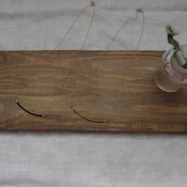 真鍮とシルク糸のネックレス