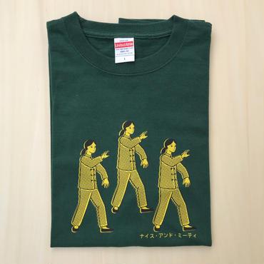 太極拳ガールTシャツ_Green / Lemon Yellow
