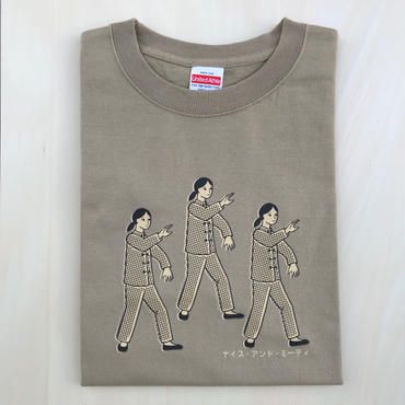 太極拳ガールTシャツ_Sand / Beige
