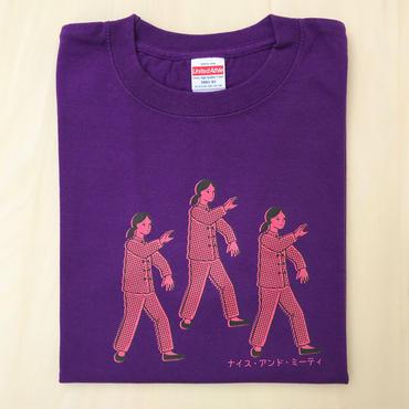 太極拳ガールTシャツ_Purple / Pink