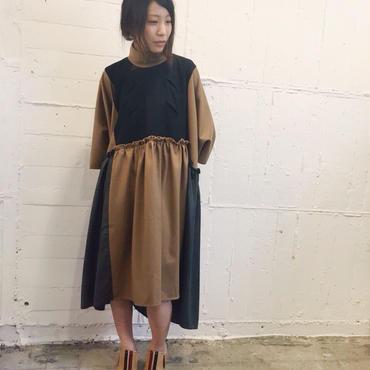 70%OFF!!! ENVOL AVEC NING 15-16A/W brown loose dress