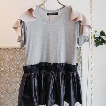 50%OFF!!! SHIROMA 16-17A/W DARK AGES ruffle nylon T-shirts