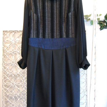 SHIROMA 16-17A/W DARK AGES rib high-necked dress