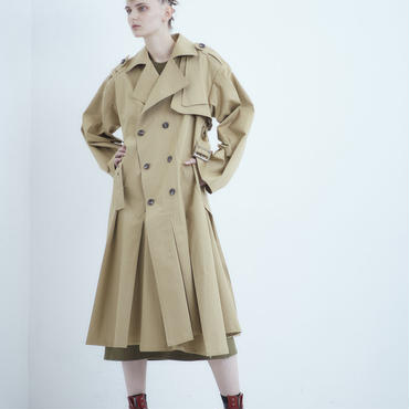 SHIROMA 18-19A/W CHURCH break up oversize trench coat