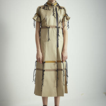 SHIROMA 18S/S ANARCHY trench spindle dress