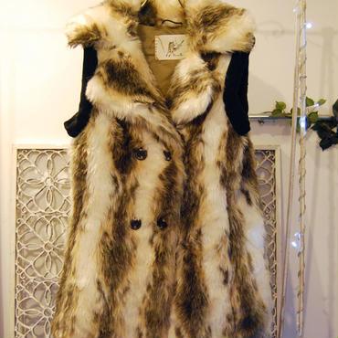 50%OFF!!! Yan na Maury double rib fur vest