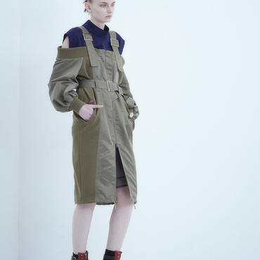 【予約商品】SHIROMA 18-19A/W CHURCH off-shoulder ma-1 coat