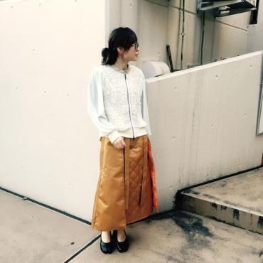 50%OFF!!!BANZAI ma-1 skirt -mustard-