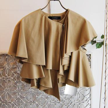 SHIROMA 17S/S BREAK ruffle jacket  -heavy-