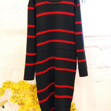 Yan na Maury chunky rib dress -red-