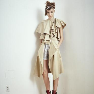 SHIROMA 17S/S BREAK ruffle jacket