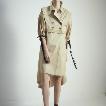 SHIROMA 18S/S ANARCHY slit trench coat