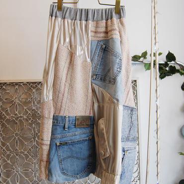 Yan na Maury mix blouson skirt 【4】