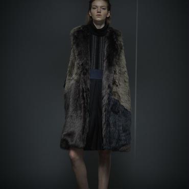 50%OFF!!! SHIROMA 16-17A/W DARK AGES fur vest -khaki-