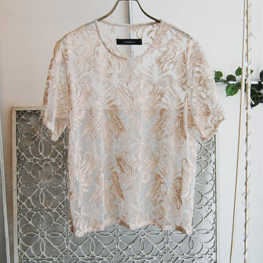 50%OFF!!! SHIROMA 17S/S BREAK embroidery top