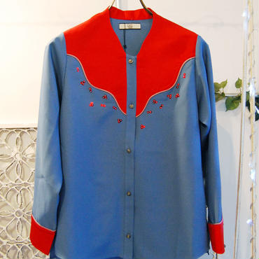 50%OFF!!!NON TOKYO western shirts -blue×red-