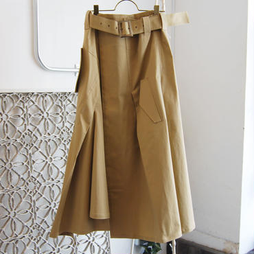【予約商品】SHIROMA 18-19A/W CHURCH break up trench skirt