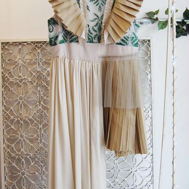 SHIROMA 17S/S BREAK embroidery pleats dress