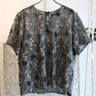 40%OFF!!!! 【GUSUCUMA limited】 SHIROMA 16S/S chase the unknown embroidery tops -gold×black-