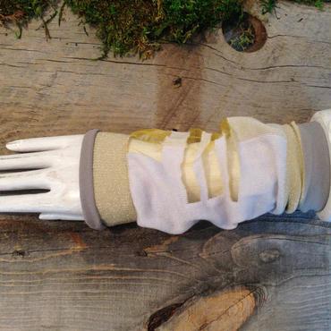SHIROMA sleeve - iceblue×white -