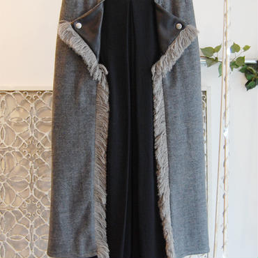 50%OFF!!! SHIROMA 16-17A/W DARK AGES rider's long skirt -light gray-