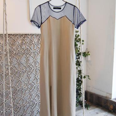 SHIROMA 19S/S tulle waffle dress
