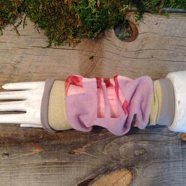 SHIROMA sleeve - pink×perple -